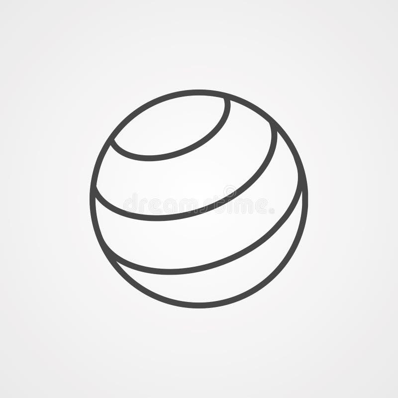 Symbole de l'icône de la balle de yoga illustration de vecteur