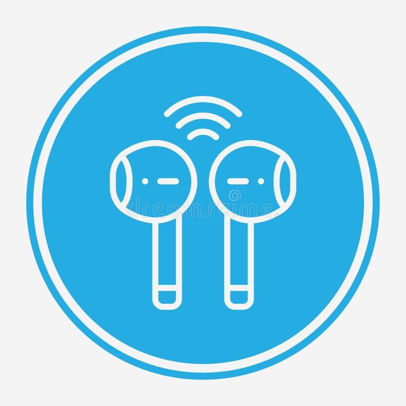 Symbole de l'icône représentant un vecteur d'écouteur sans fil illustration stock