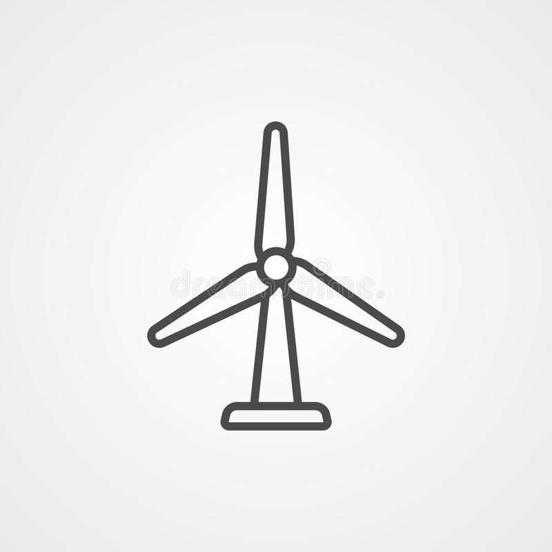 Symbole de l'icône représentant un vecteur de moulin à vent illustration libre de droits