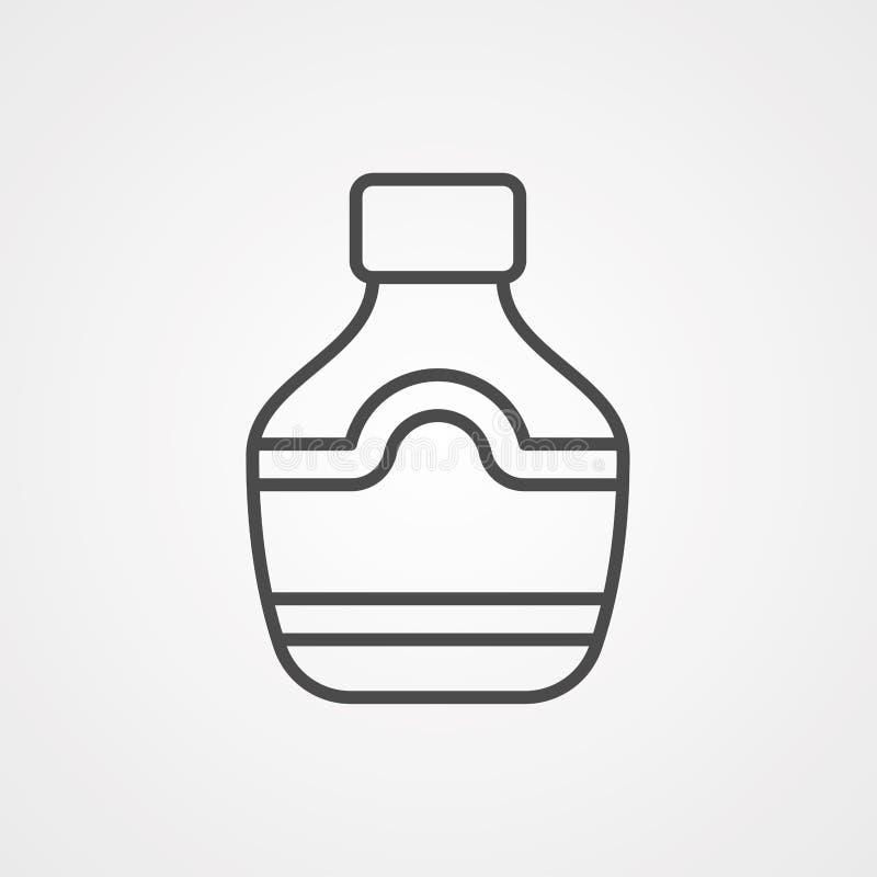 Symbole de l'icône représentant un vecteur Whiskey illustration libre de droits