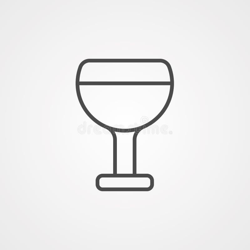 Symbole de l'icône Vecteur de vin illustration stock