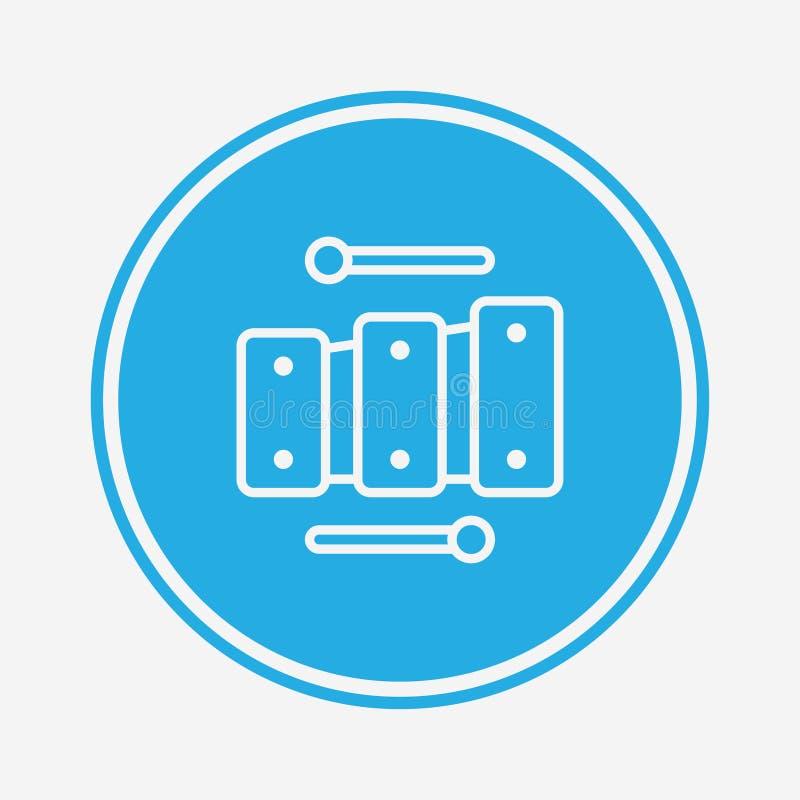 Symbole de l'icône vectorielle Xylophone illustration stock