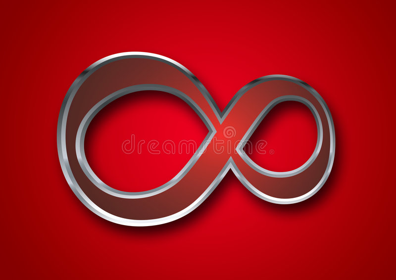 symbole de l 39 infini 3d illustration stock illustration du. Black Bedroom Furniture Sets. Home Design Ideas