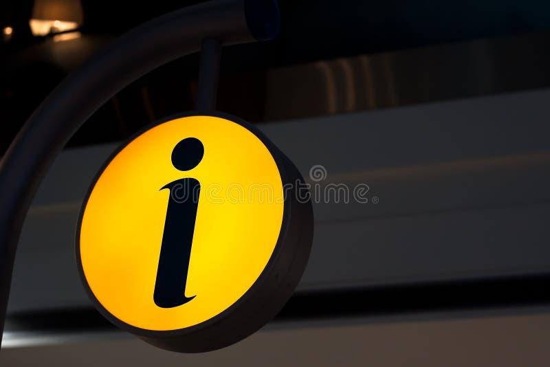 Symbole de l'information photographie stock