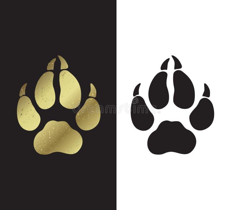 Symbole de l'an Trace des pattes du chien s illustration stock