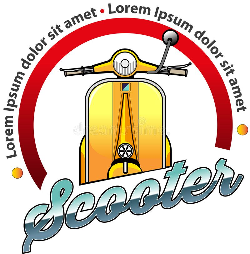 Symbole de la communauté de scooter illustration de vecteur