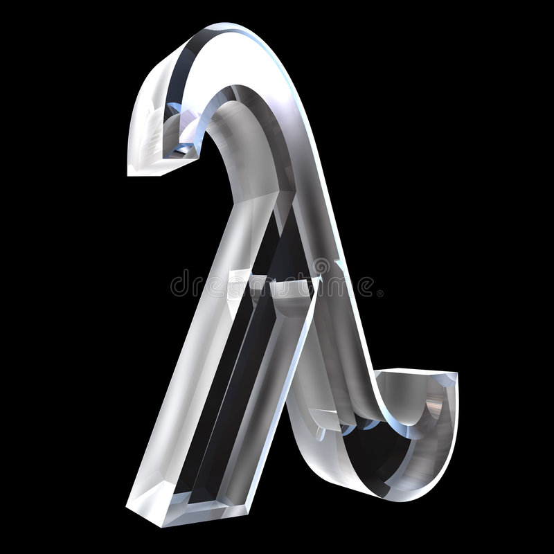 Symbole de lambda en glace (3d) illustration libre de droits