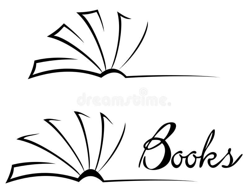 Symbole de livre illustration de vecteur