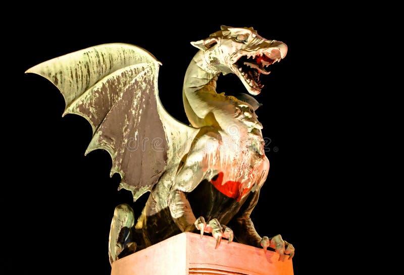 symbole de Ljubljana de dragon photographie stock libre de droits