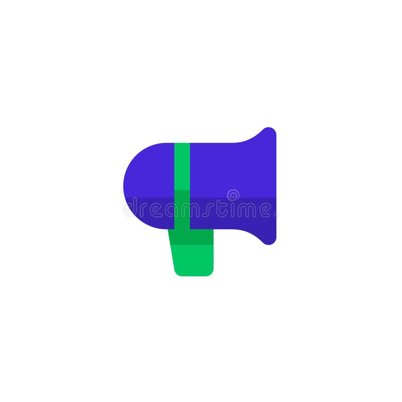 Symbole de mégaphone de haut-parleur de conception d'icône d'annonce illustration professionnelle propre simple de vecteur de con illustration libre de droits