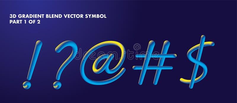 symbole de mélange du gradient 3D illustration libre de droits