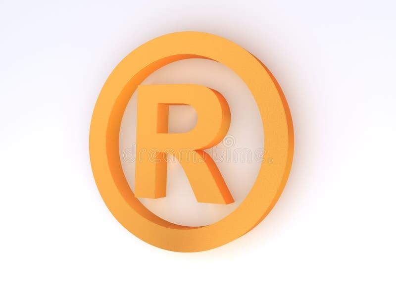 Symbole de marque déposée illustration libre de droits