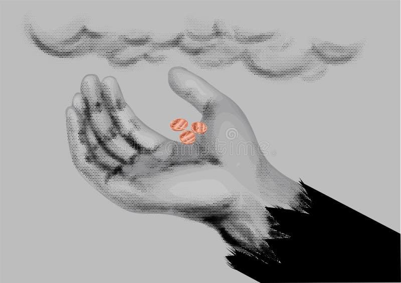 Symbole de mendiant illustration de vecteur