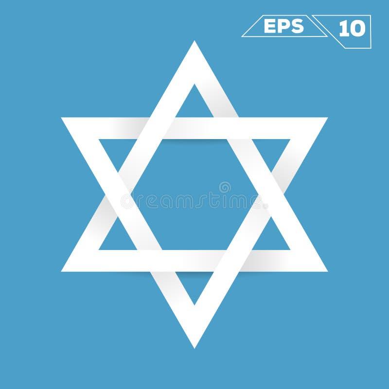 Symbole de minimaliste de papier d'étoile de David illustration libre de droits