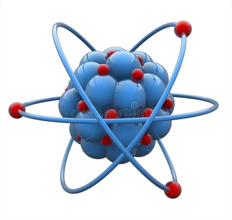 Molécule d'atome illustration de vecteur