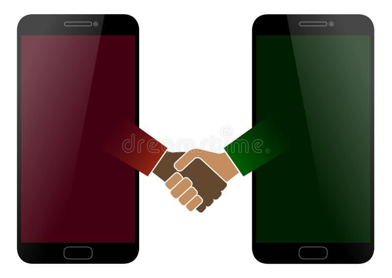 Symbole de paix avec le smartphone illustration libre de droits