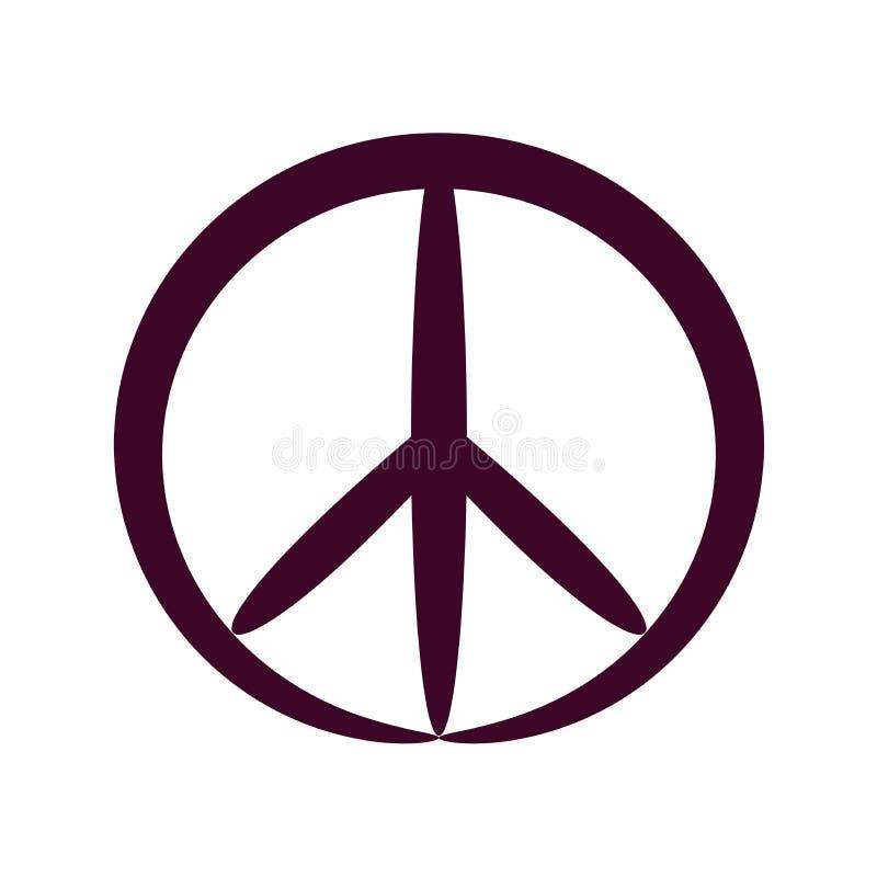 Symbole de paix de découpe, vecteur d'isolement illustration stock