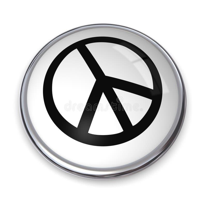 symbole de paix du bouton 3D illustration libre de droits