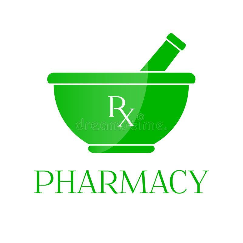 symbole de pharmacie mortier dans la couleur verte illustration de vecteur illustration du. Black Bedroom Furniture Sets. Home Design Ideas