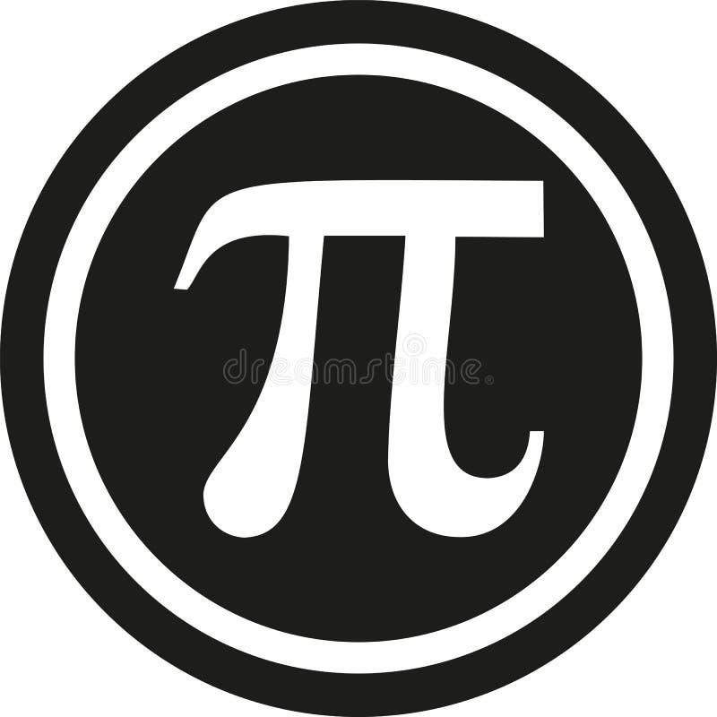 Symbole de pi en cercle illustration stock
