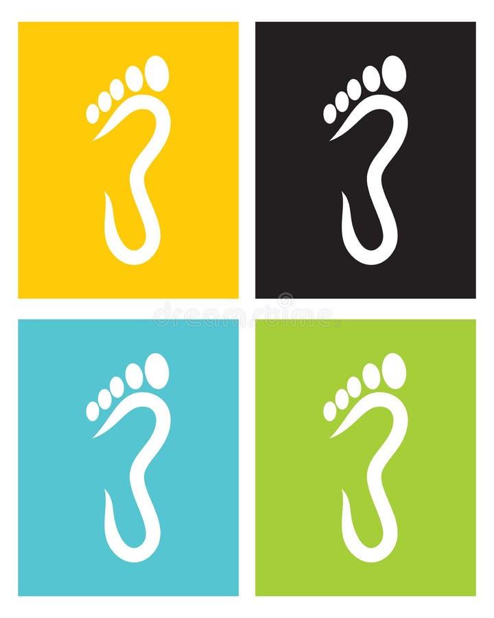 Symbole de pied illustration stock