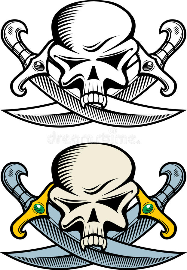 Symbole de pirate illustration stock