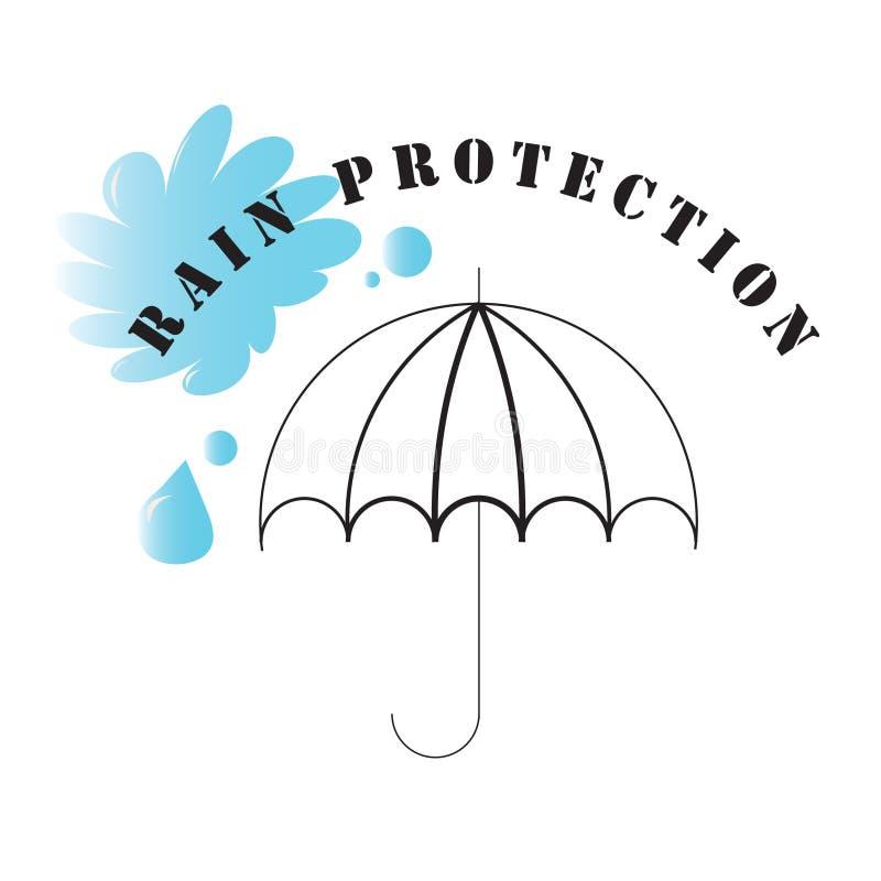 symbole de pluie de protection image libre de droits