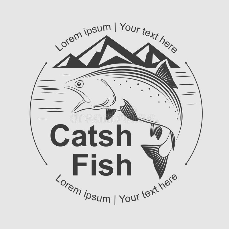 Symbole de poissons de crochet, vecteur illustration de vecteur
