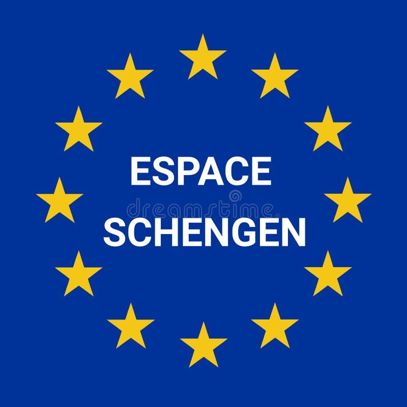 Symbole de région de Schengen en français illustration libre de droits