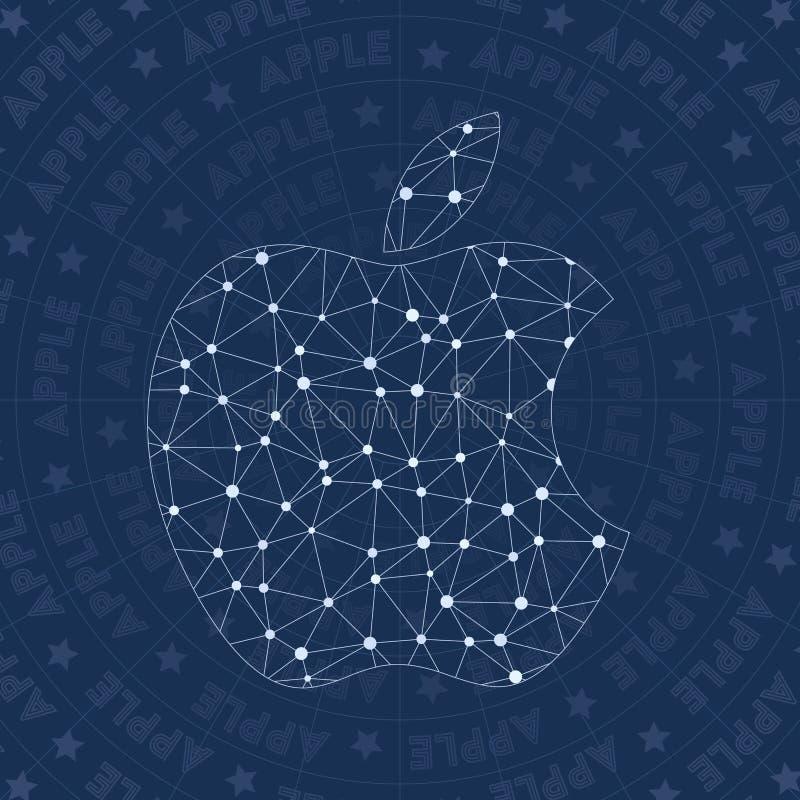 Symbole de réseau d'Apple illustration de vecteur