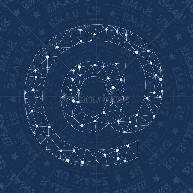 Symbole de réseau d'email illustration de vecteur