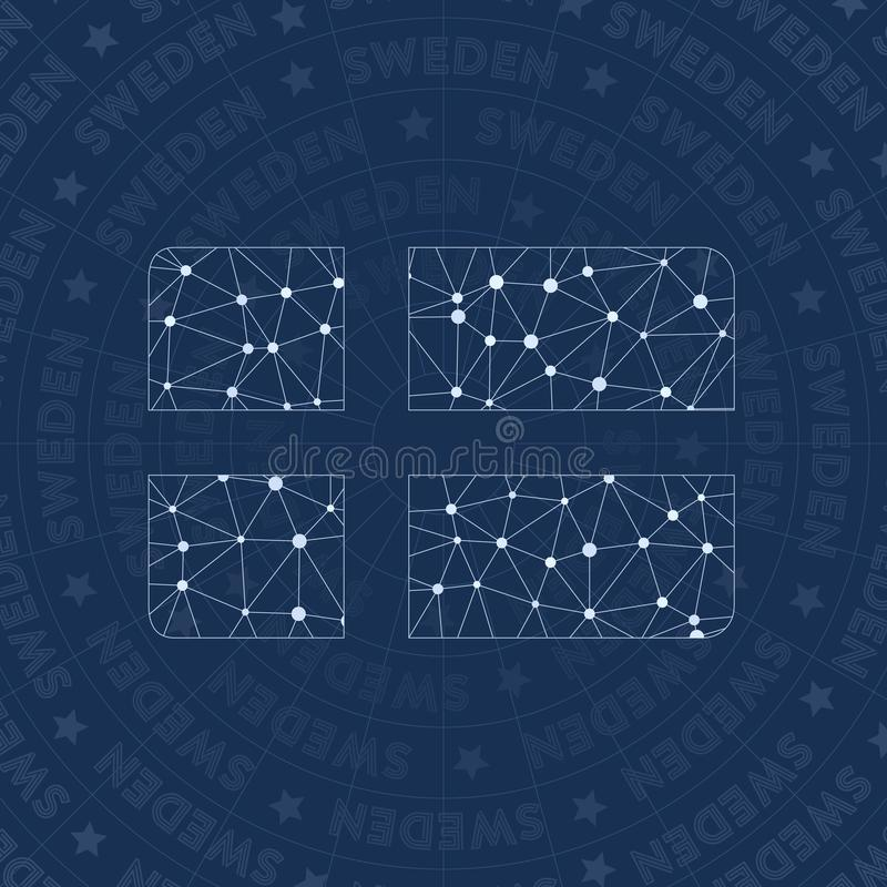 Symbole de réseau de la Suède illustration de vecteur