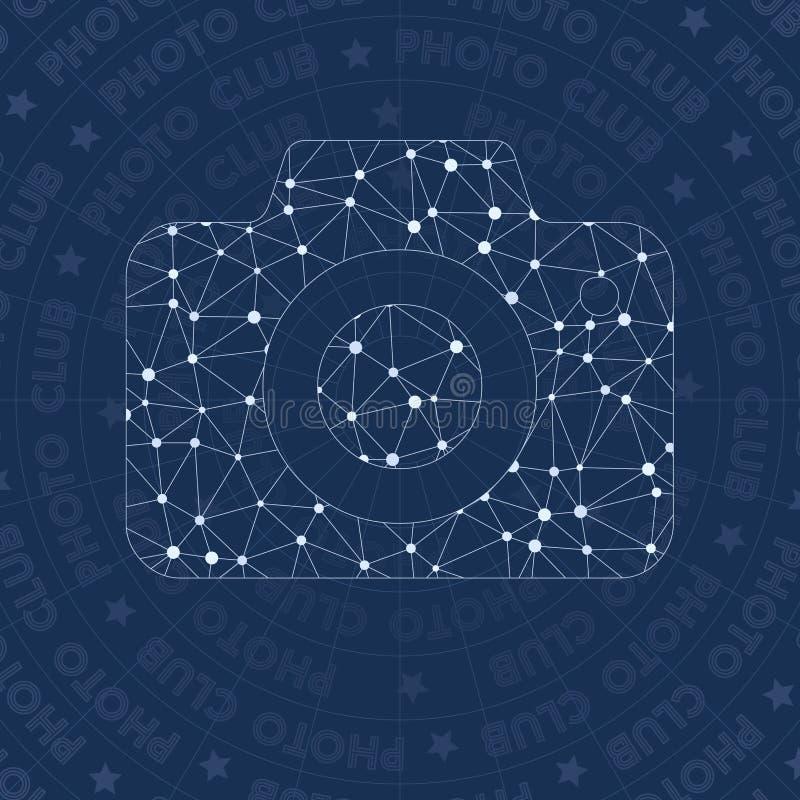 Symbole de réseau de photo illustration stock