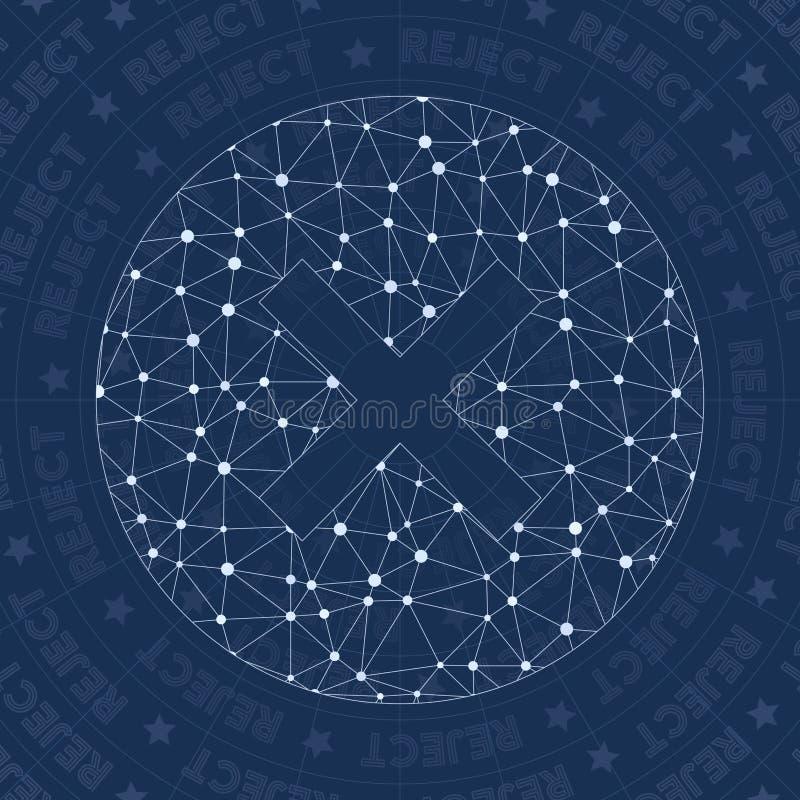 Symbole de réseau de rejet illustration de vecteur
