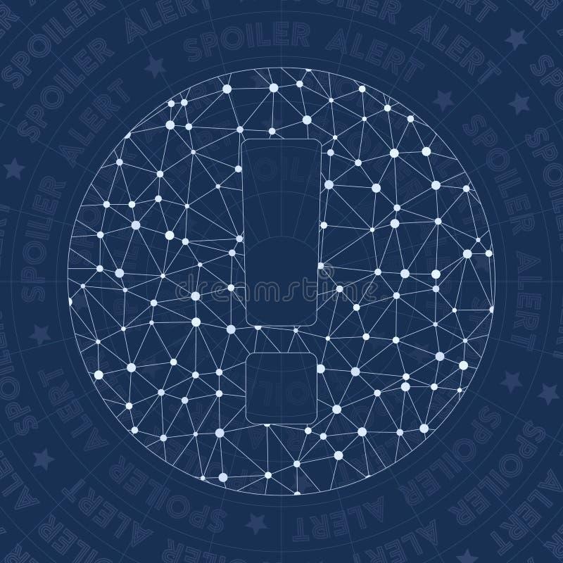 Symbole de réseau de spoiler illustration libre de droits