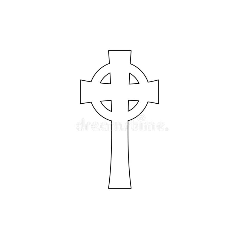 Symbole de religion, icône croisée celtique d'ensemble ?l?ment d'illustration de symbole de religion Des signes et l'ic?ne de sym illustration libre de droits