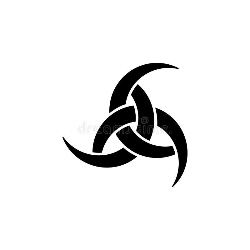 Symbole de religion, icône d'Odin Élément d'illustration de symbole de religion Des signes et l'icône de symboles peuvent être em illustration stock