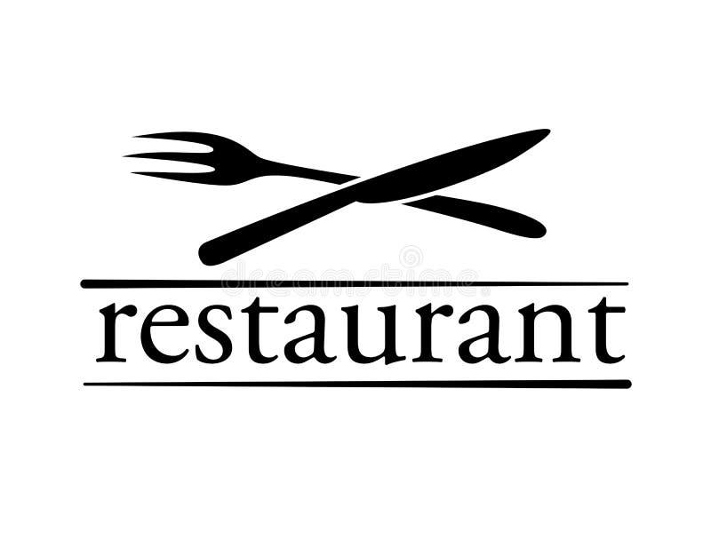 Symbole de restaurant, vecteur illustration libre de droits
