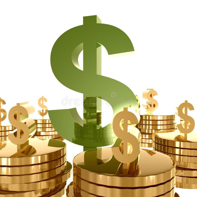 Symbole de richesse et de graphisme d'argent illustration libre de droits