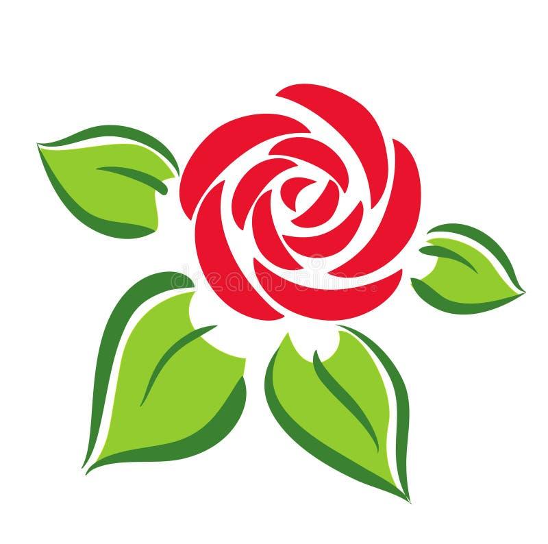 Symbole de Rose illustration de vecteur