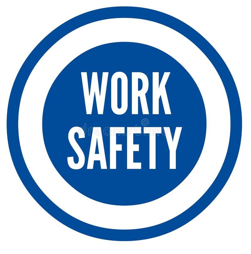 Symbole de sécurité de travail illustration libre de droits