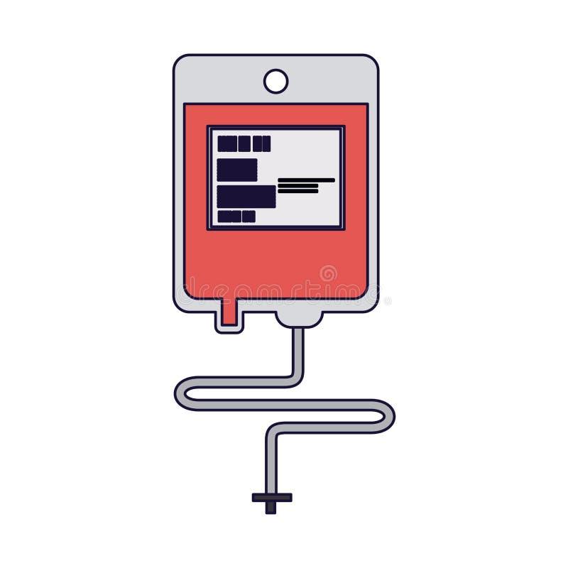 Symbole de sac de sang illustration de vecteur