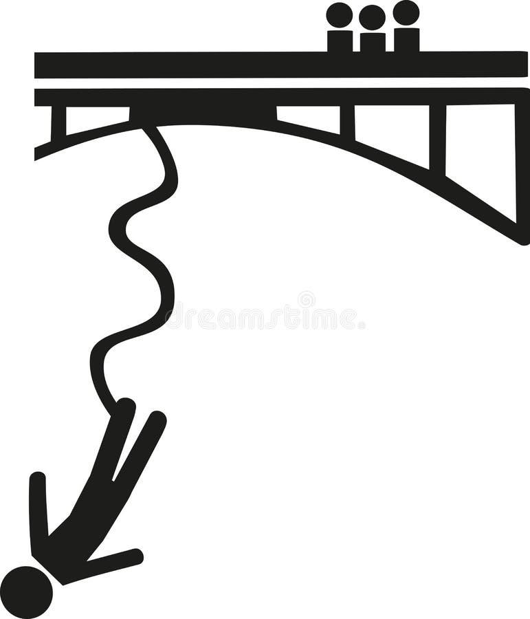 Symbole de saut à l'élastique illustration libre de droits