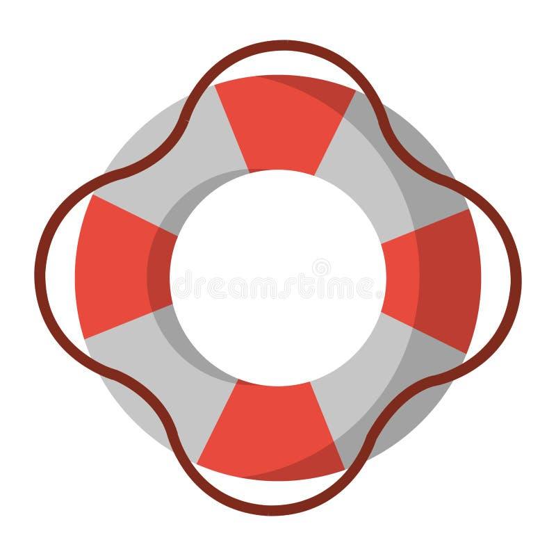 Symbole de sauveteur de flotteur illustration libre de droits