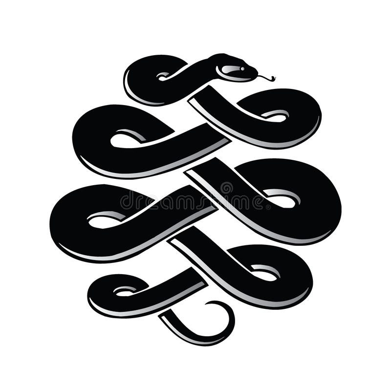Symbole de serpent illustration libre de droits