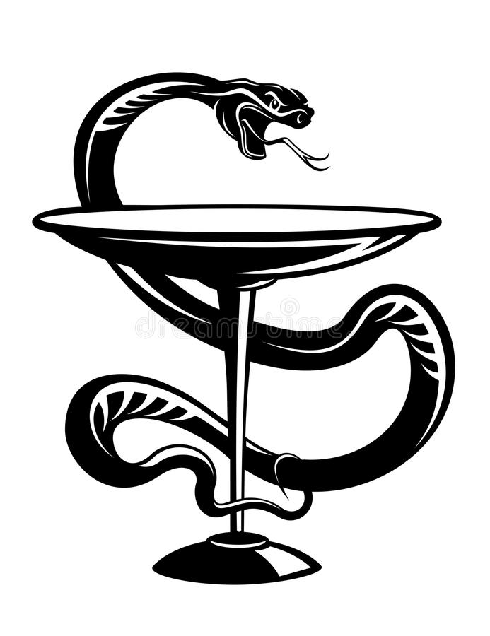 Symbole de serpent de médecine illustration libre de droits