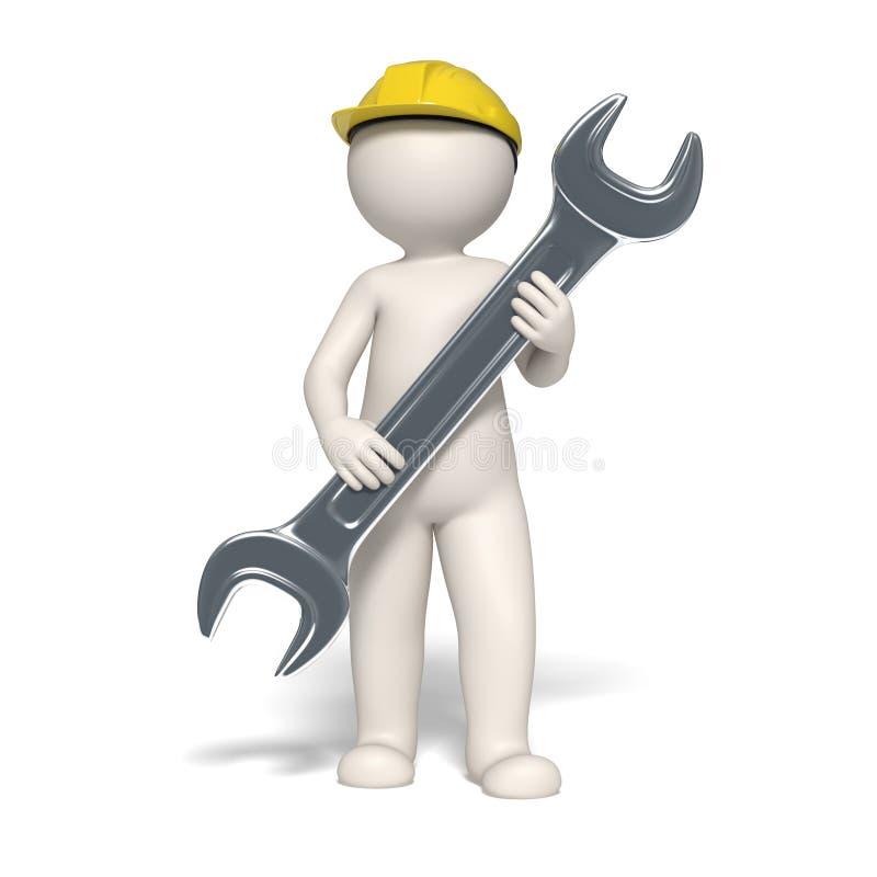 symbole de service de l'homme 3d illustration de vecteur