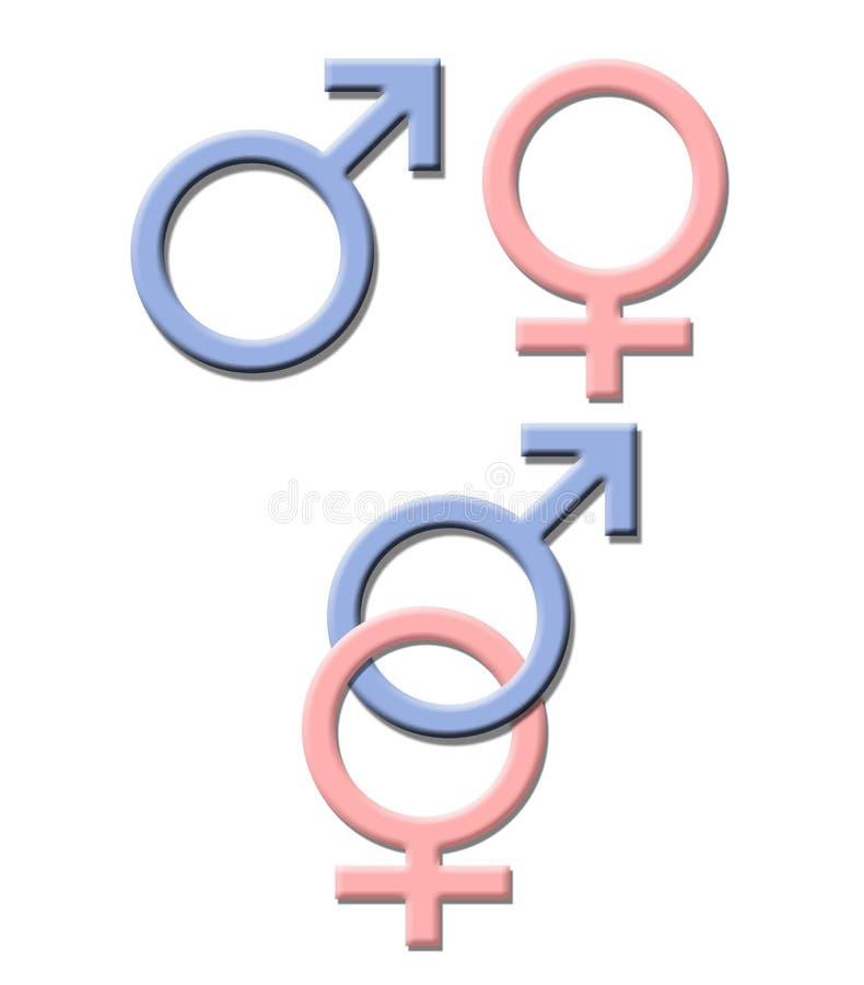 Symbole de sexe illustration stock