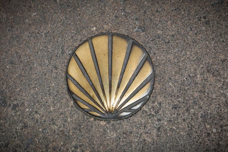 Symbole de Shell du Camino de Santiago photographie stock