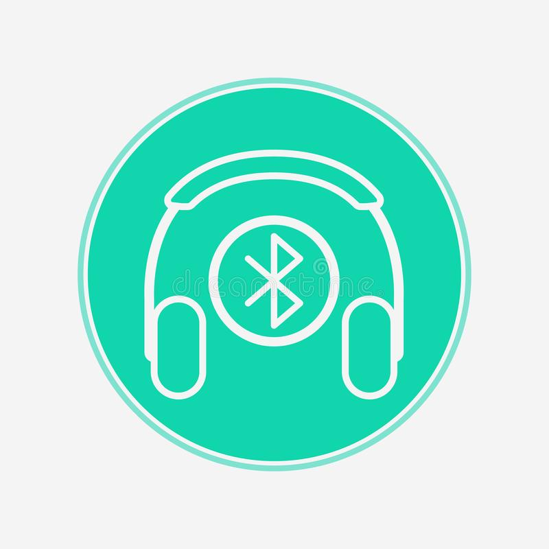 Symbole de signe d'icône de vecteur d'écouteur de Bluetooth illustration stock